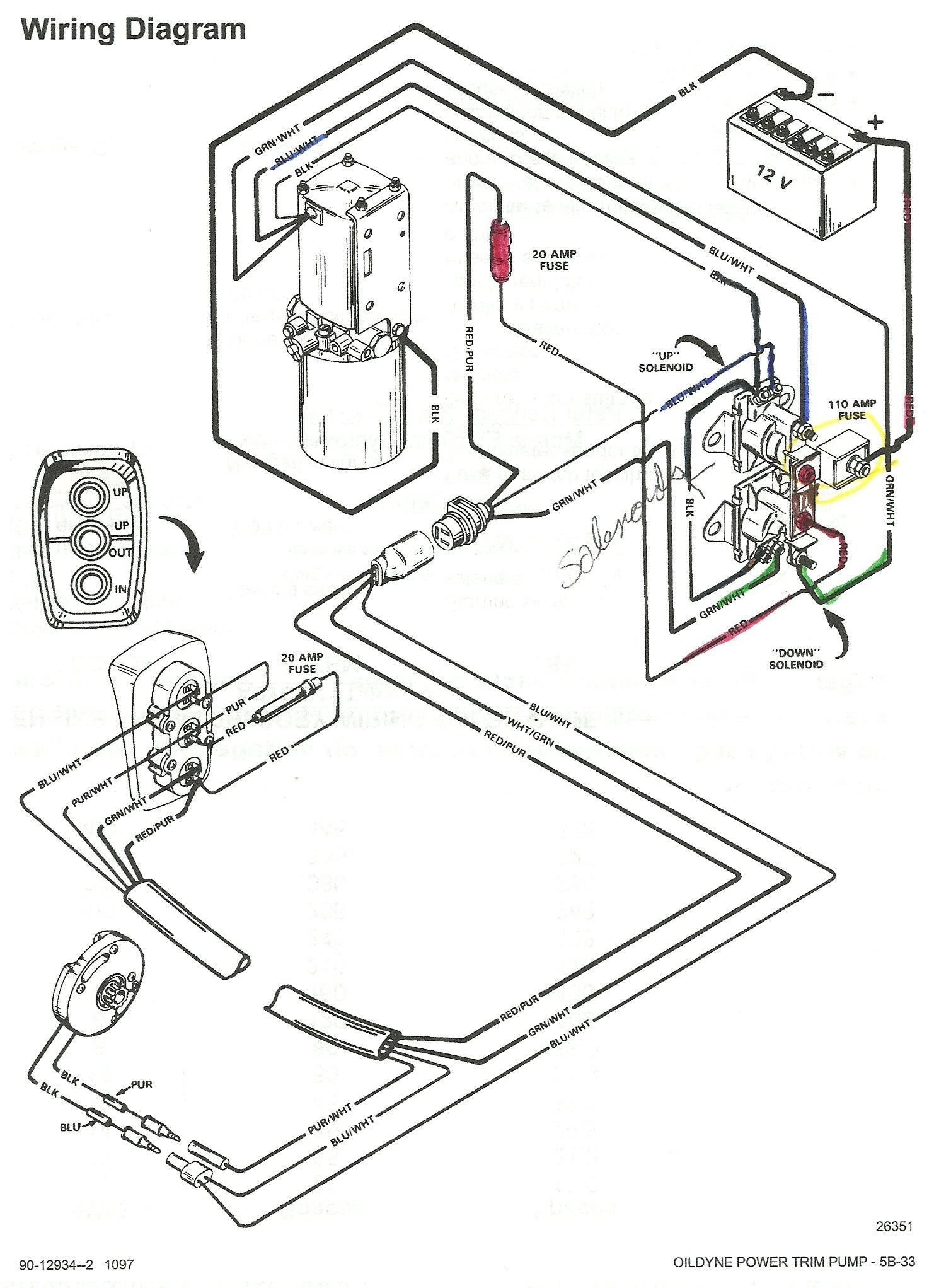 mercruiser trim wire diagram