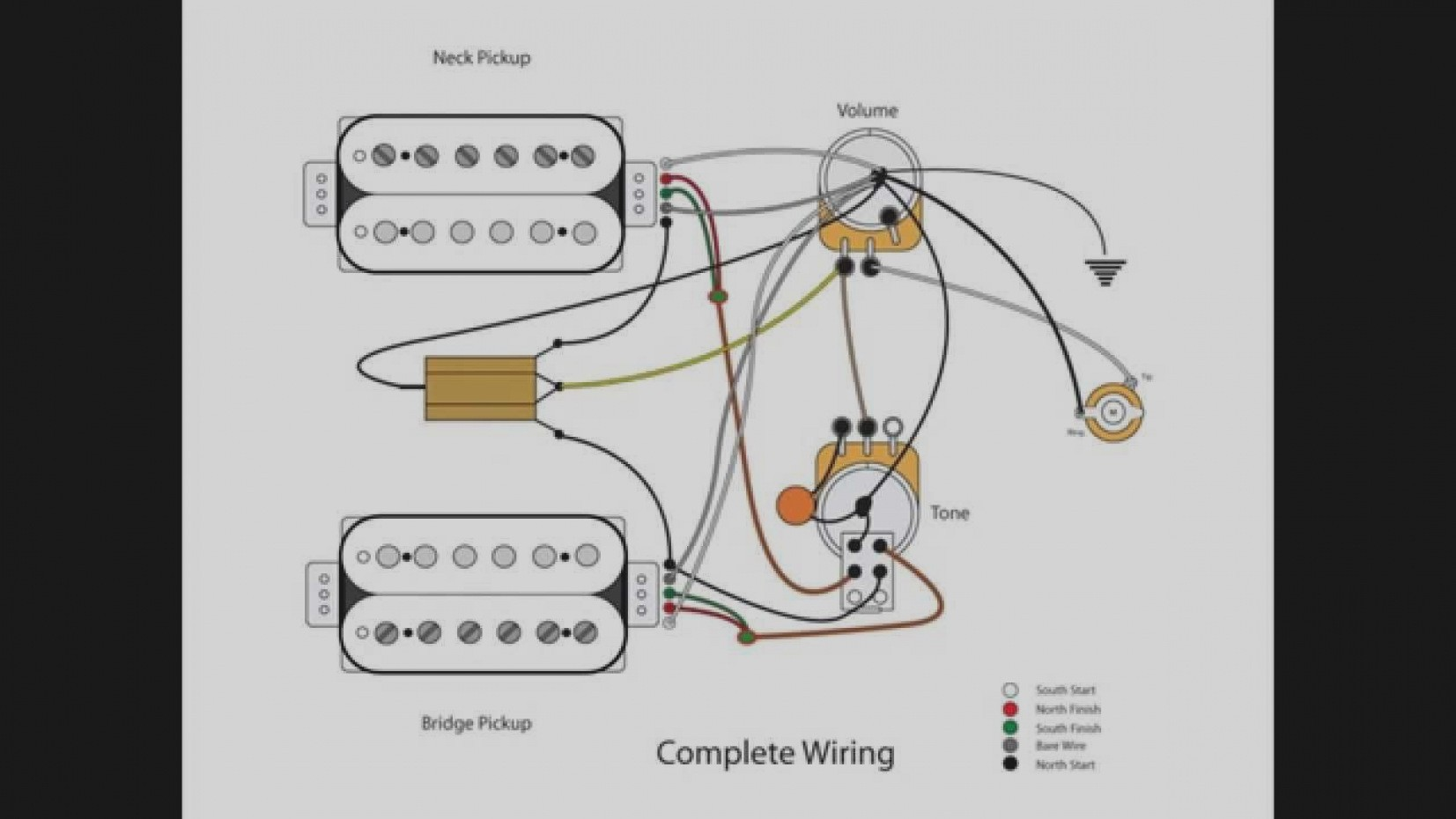wiring diagram 1 vol 2 tone on guitar wiring diagram 2 humbucker 1
