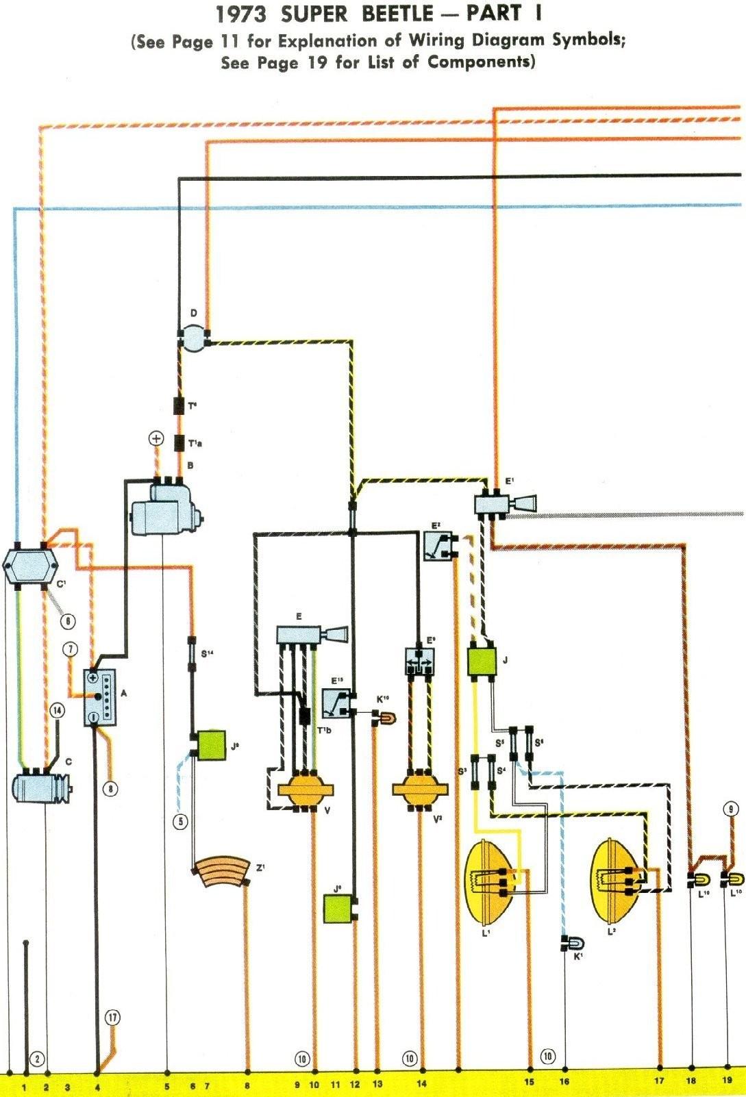 1973 vw van wiring diagram