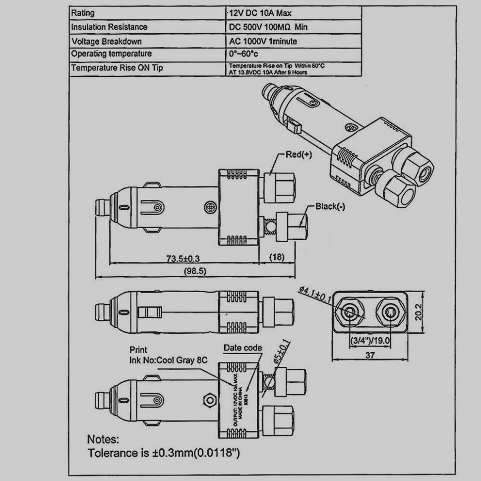 12v car socket wiring diagram