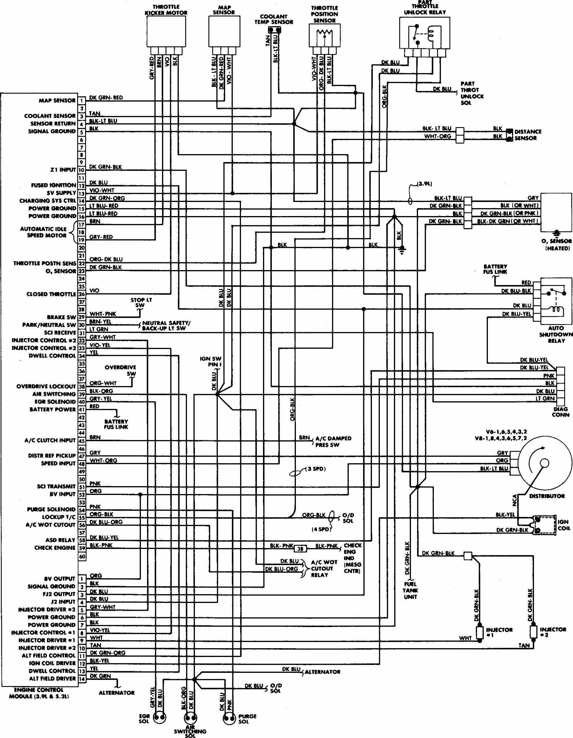 98 wrangler engine diagram