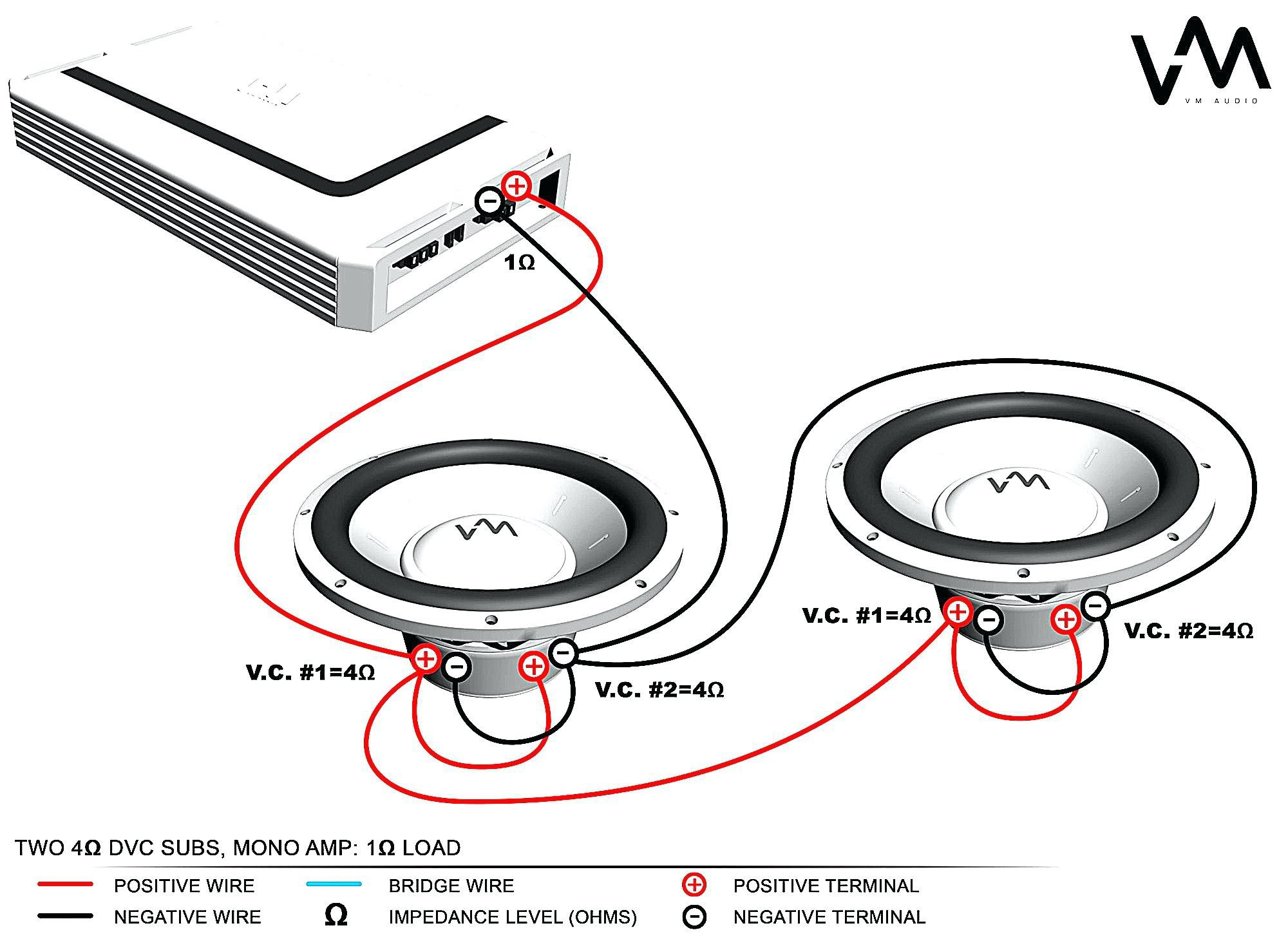 subwoofer wiring diagram 4 ohm