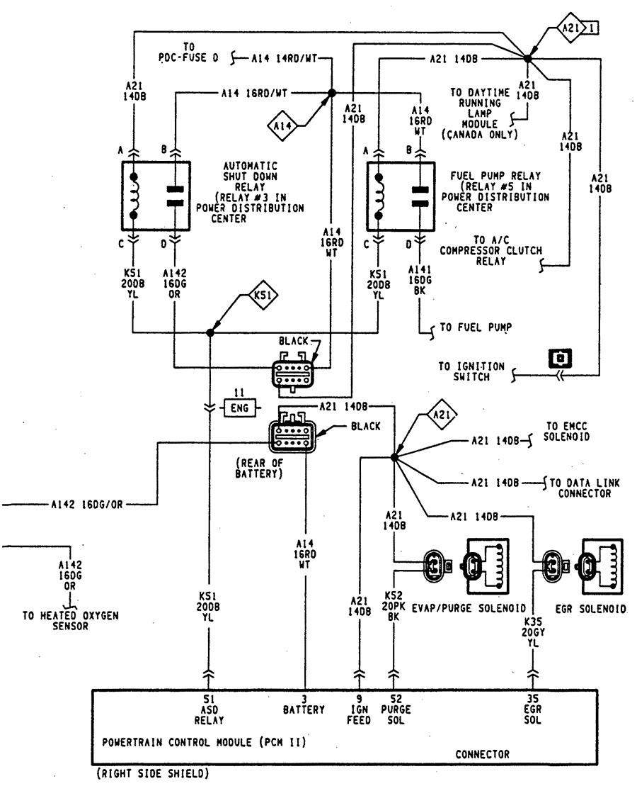 2002 dodge dakota wiring diagram under hood