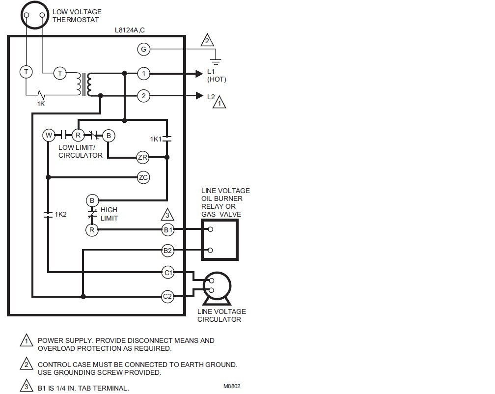 Typical Unit Heater Wiring Diagram With Aquastat Ranco Honeywell L8124a Diagrams Scematicl8124a Third Level Gas