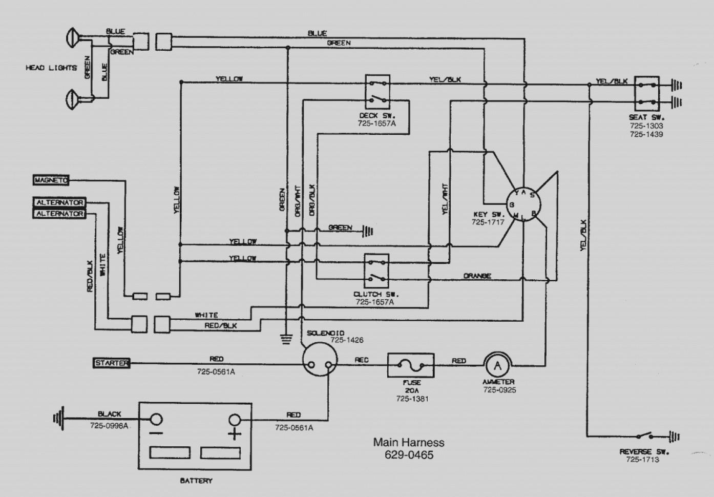 Craftsman Lawn Tractor Wiring Diagram - Basic Wiring Schematic