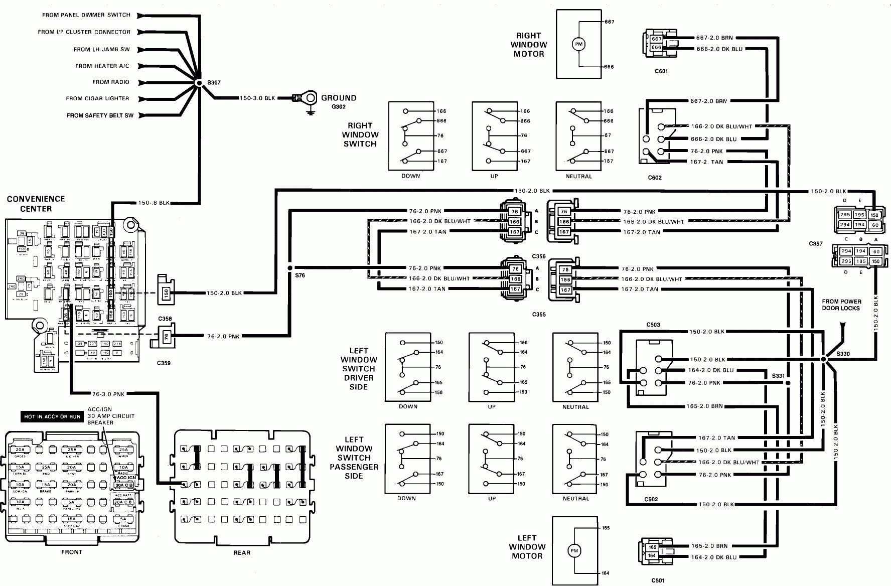 tahoe window switch wiring diagram