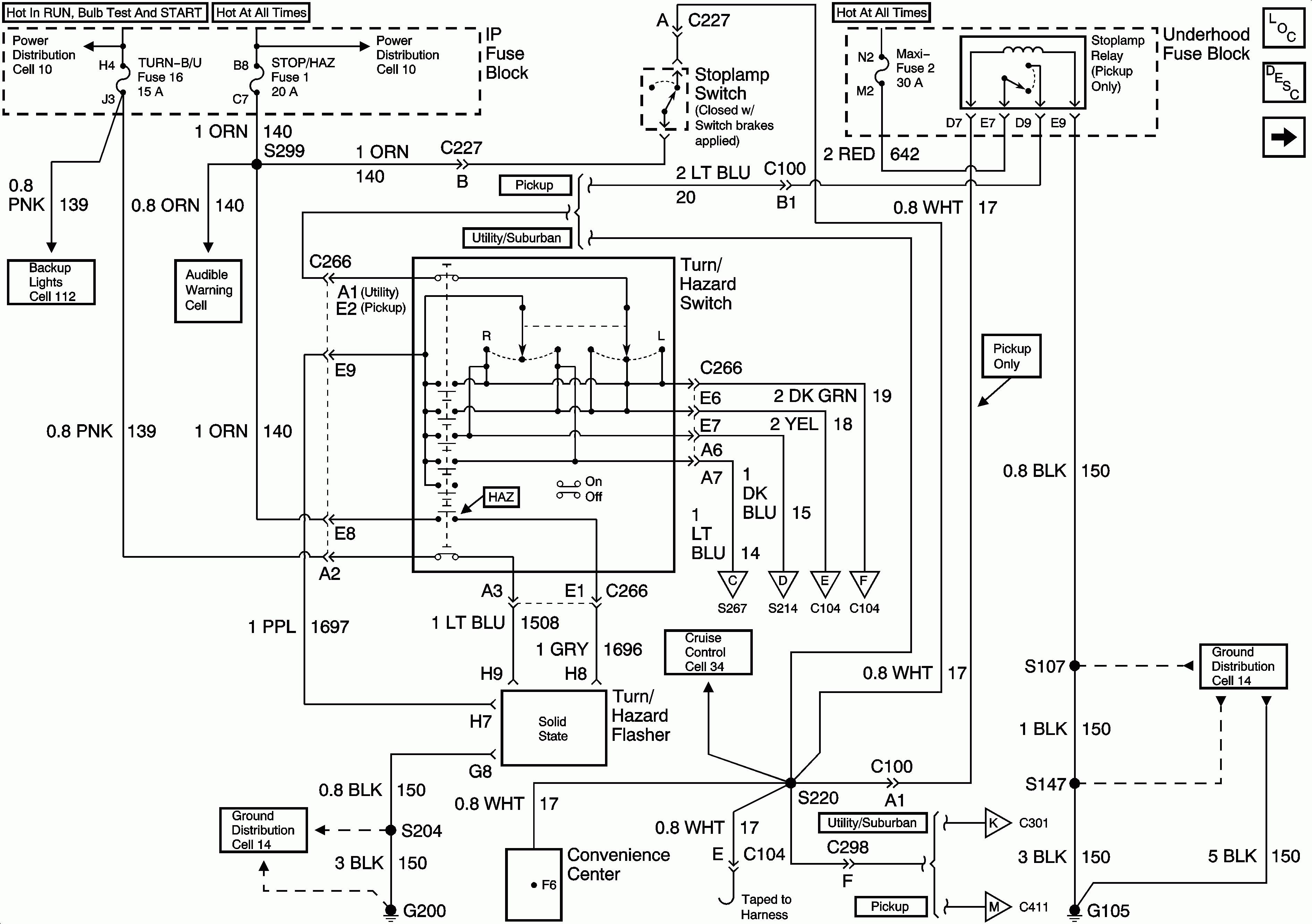 93 suburban ledningsdiagram schematic
