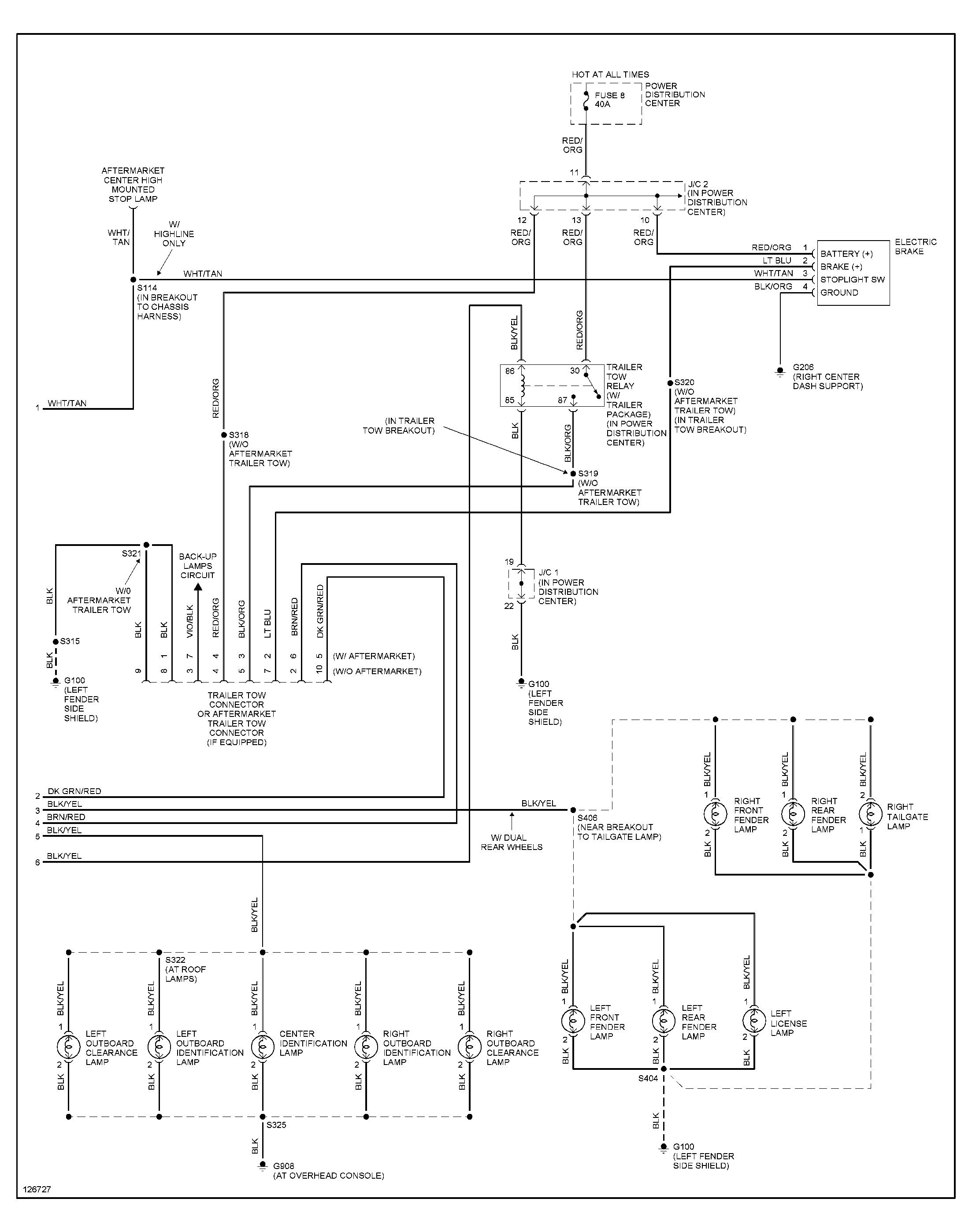 wiring diagram tail lights for cars