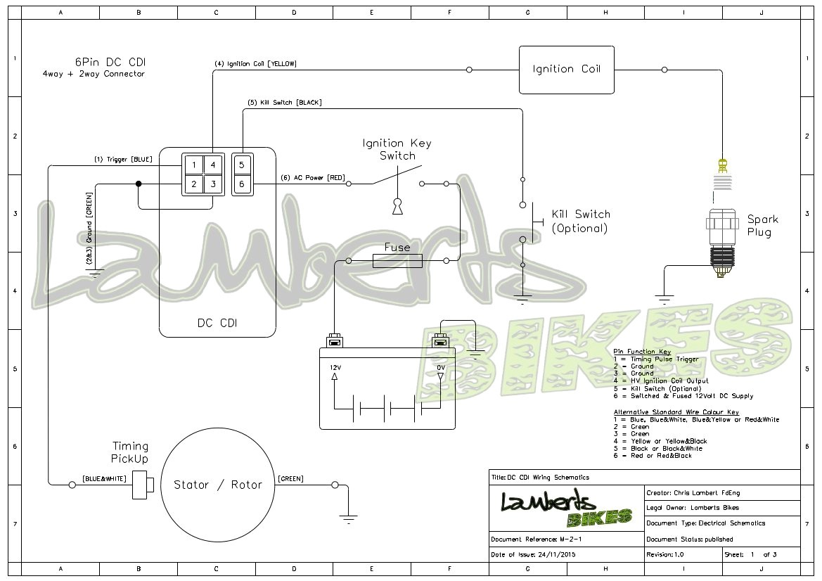 wire cdi ignition box diagram wiring diagrams
