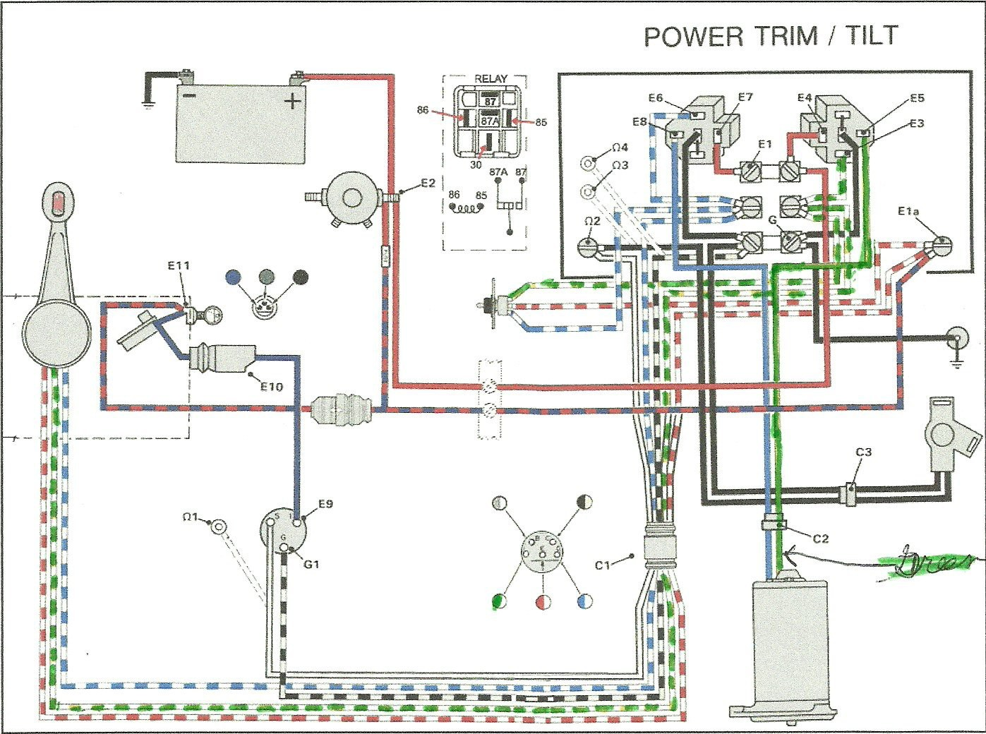boat wiring diagram for trim and tilt wiring diagram