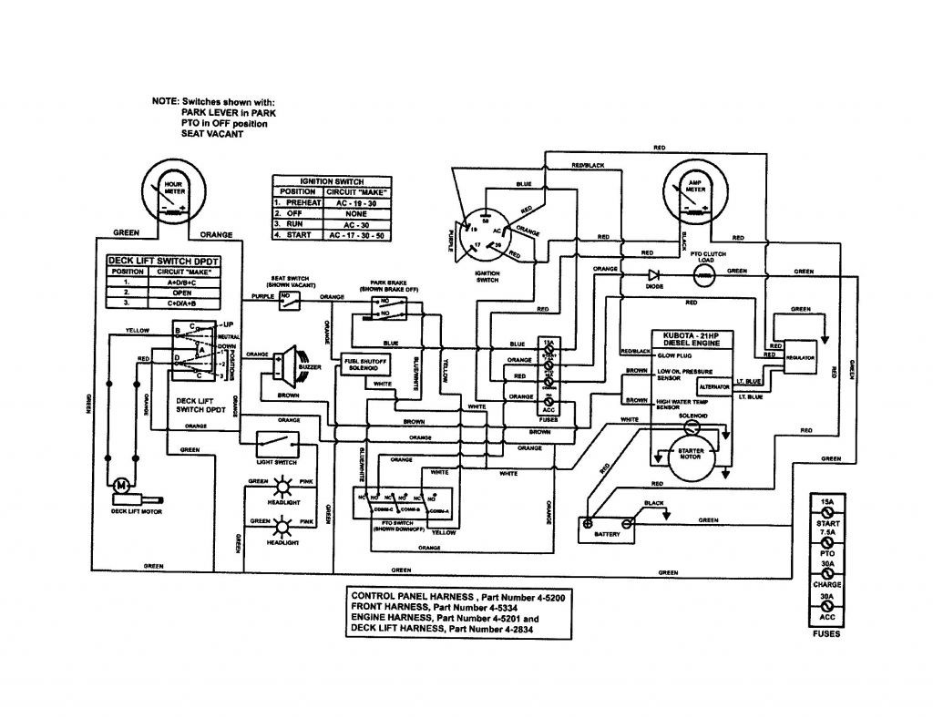 kubota b7800 wiring diagrams