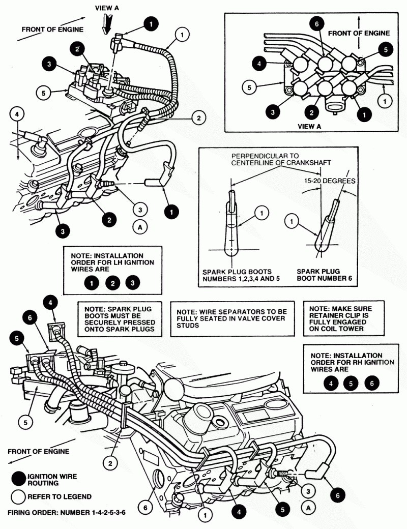 ford 4 2 spark plug wire diagram