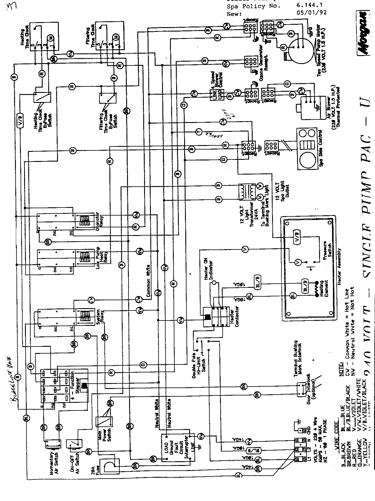 morgan hot tub wiring diagram