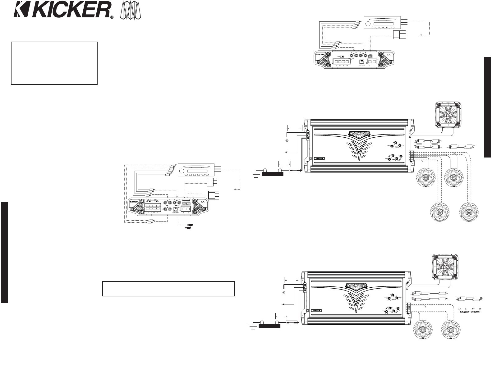 kicker 5 channel amp wiring diagram