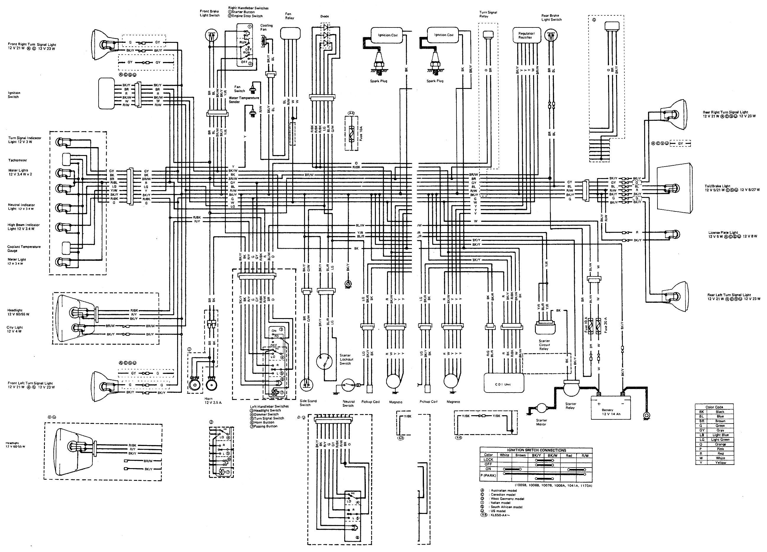 kawasaki klr 650 wiring diagram on 97 f150 trailer wiring diagram