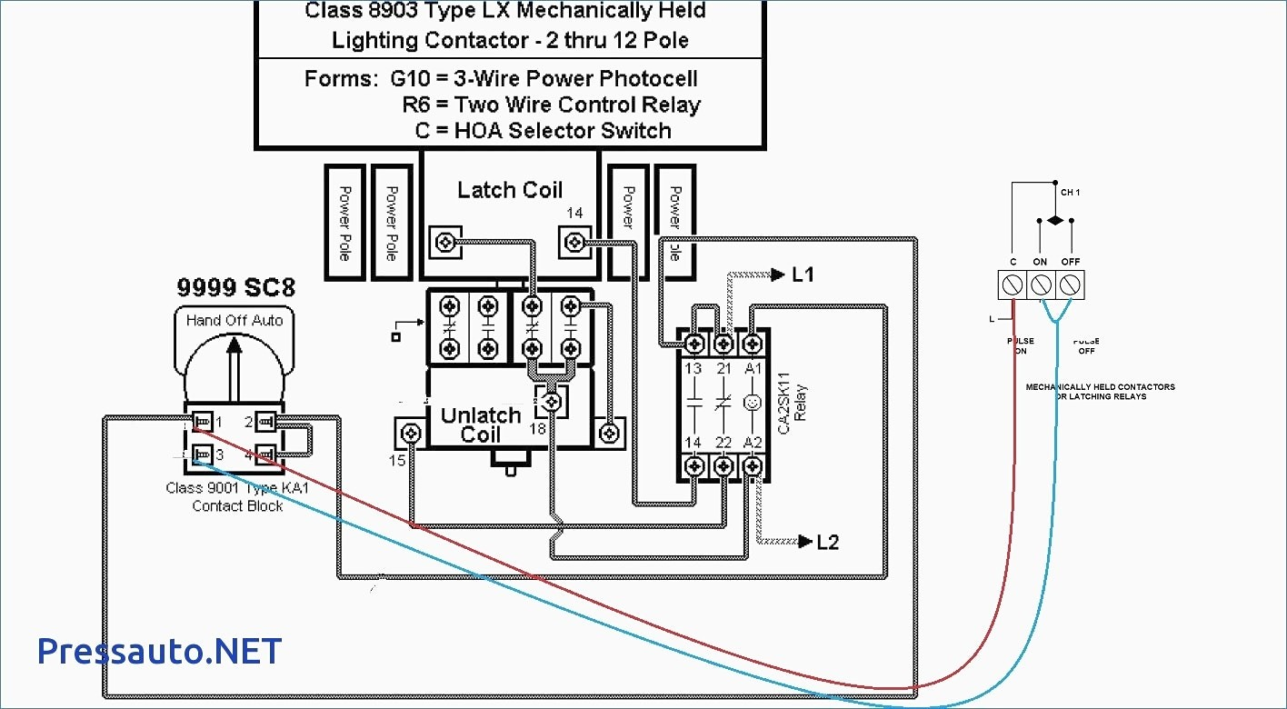 wiring diagram lighting contactor with photocell