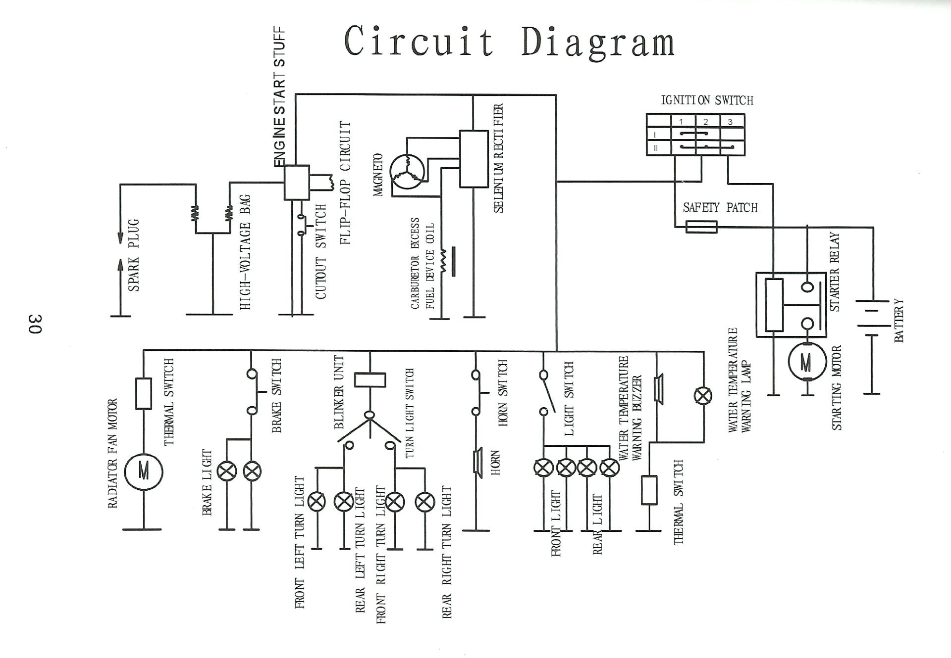 50cc scooter wiring diagram coil