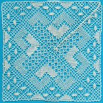 Chevron/Rose Ground mat Lace Making Pattern