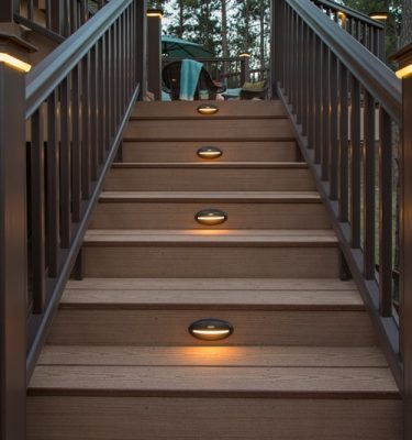 St Louis Timbertech Azek Deck Lighting Under Rail Light