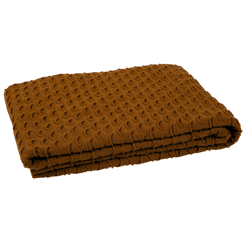 Wolldecke Curry Vintage Tagesdecke Cozy 170 X 130 Cm Curry Gestrickt Decke