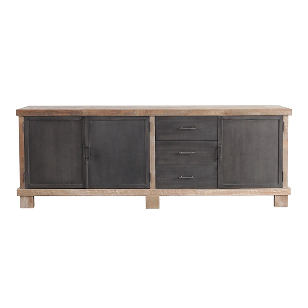 Kommode Holz Metall Sideboard Vollholz