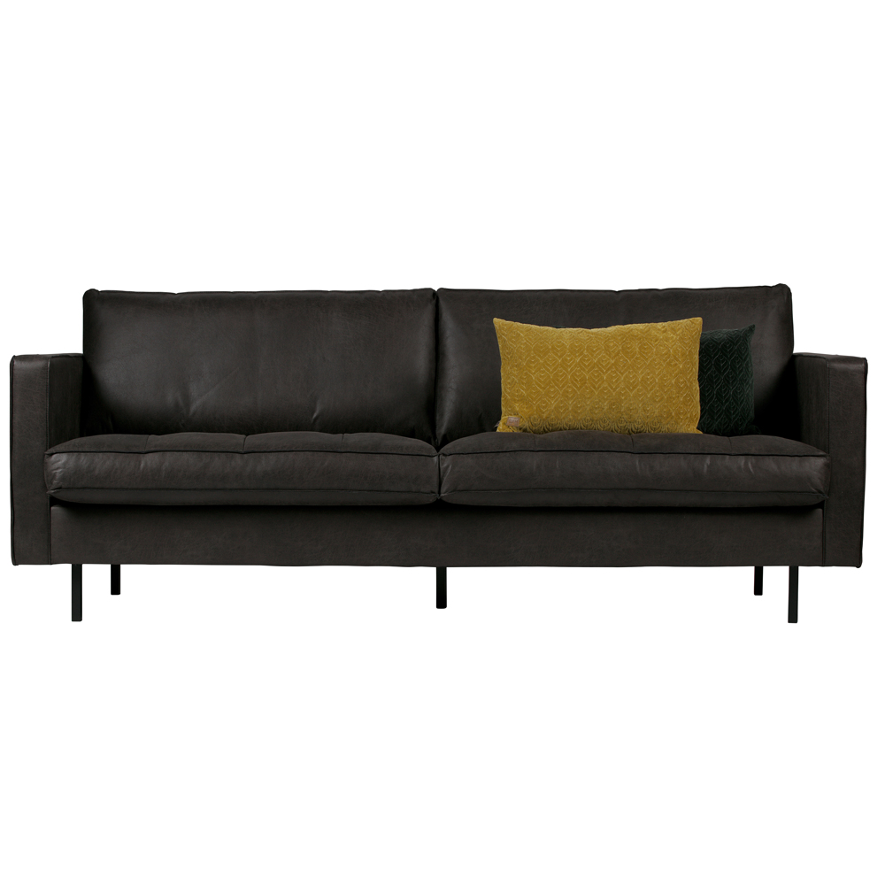 Couchgarnituren In Leder 2 5 Sitzer Sofa Rodeo Schwarz Lounge Couch Leder Loungesofa