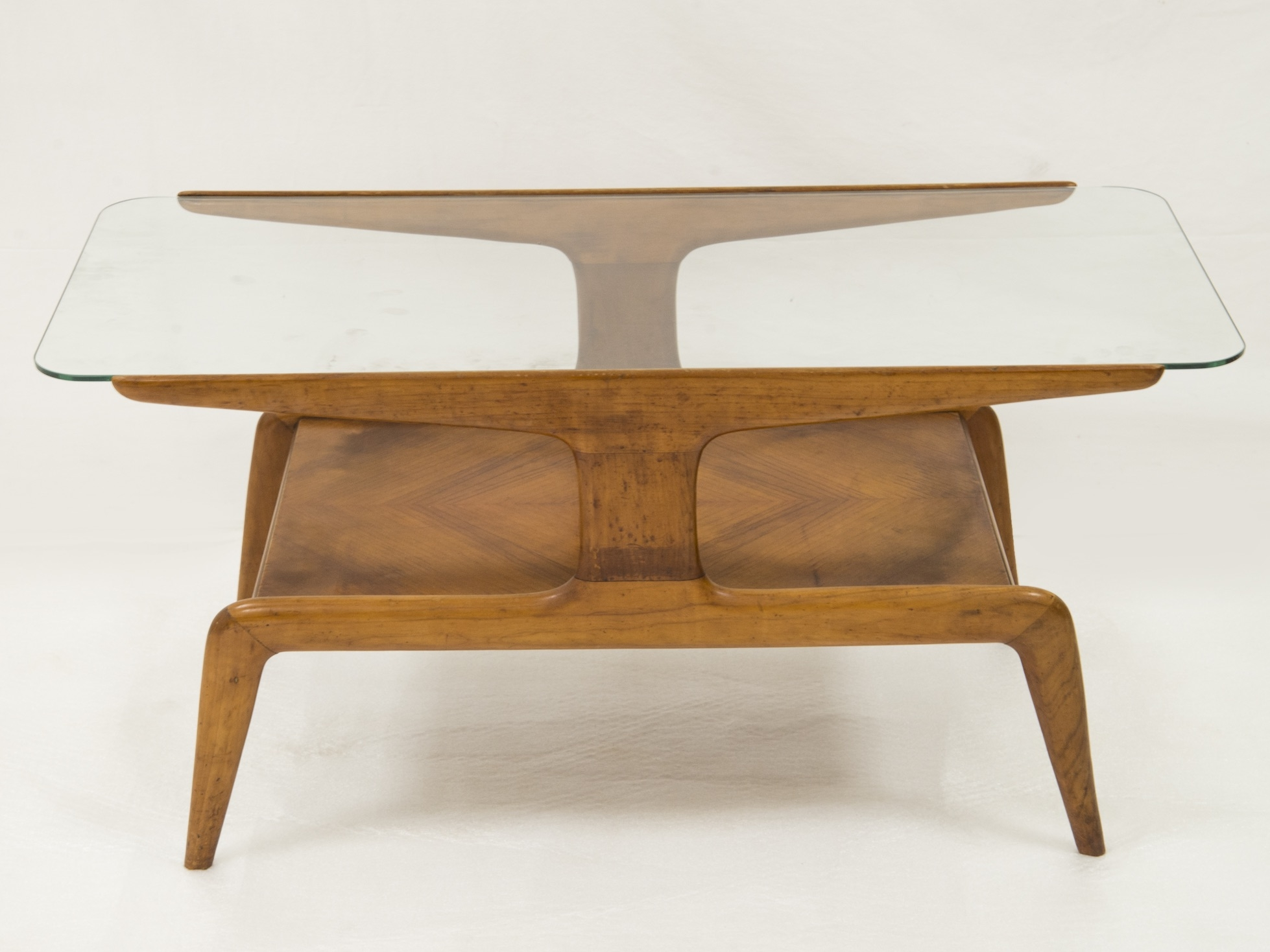 Table Basse Bois Et Verre Gio Ponti Side Table Ca 1950 Maison Rapin
