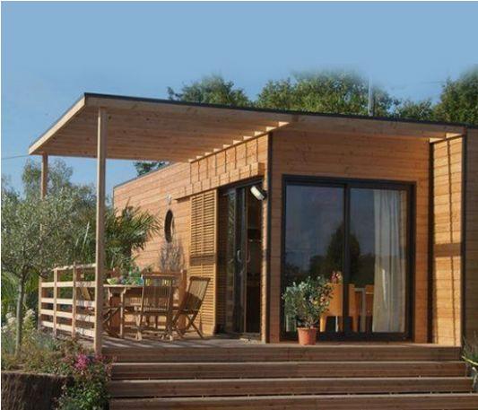 extension sur poteaux Construction modulaire bois Pinterest - exemple de facade de maison