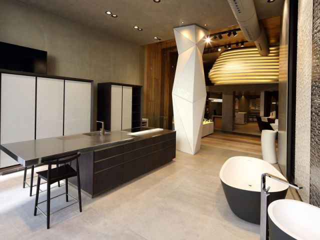 Rangement Bar Porcelanosa Inaugure Son Tout Premier Showroom à Paris