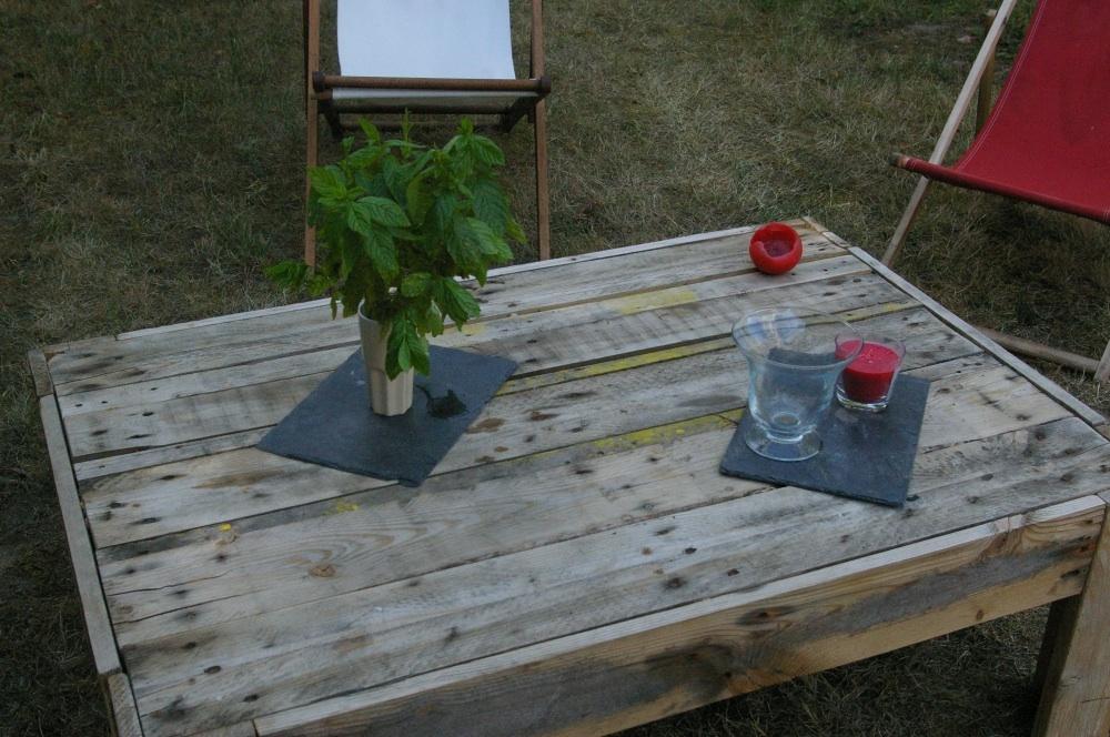 Table Palette Jardin | Mode D\'emploi Salon De Jardin En Palette ...