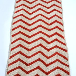 Jute mat red chevron J-matChevronRed