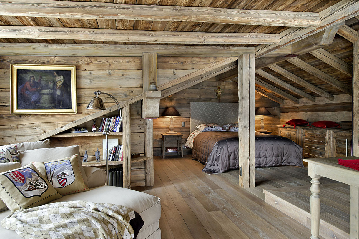 Decoration Voute Interieur En Suisse Un Chalet Authentique Et Tout Confort Maison