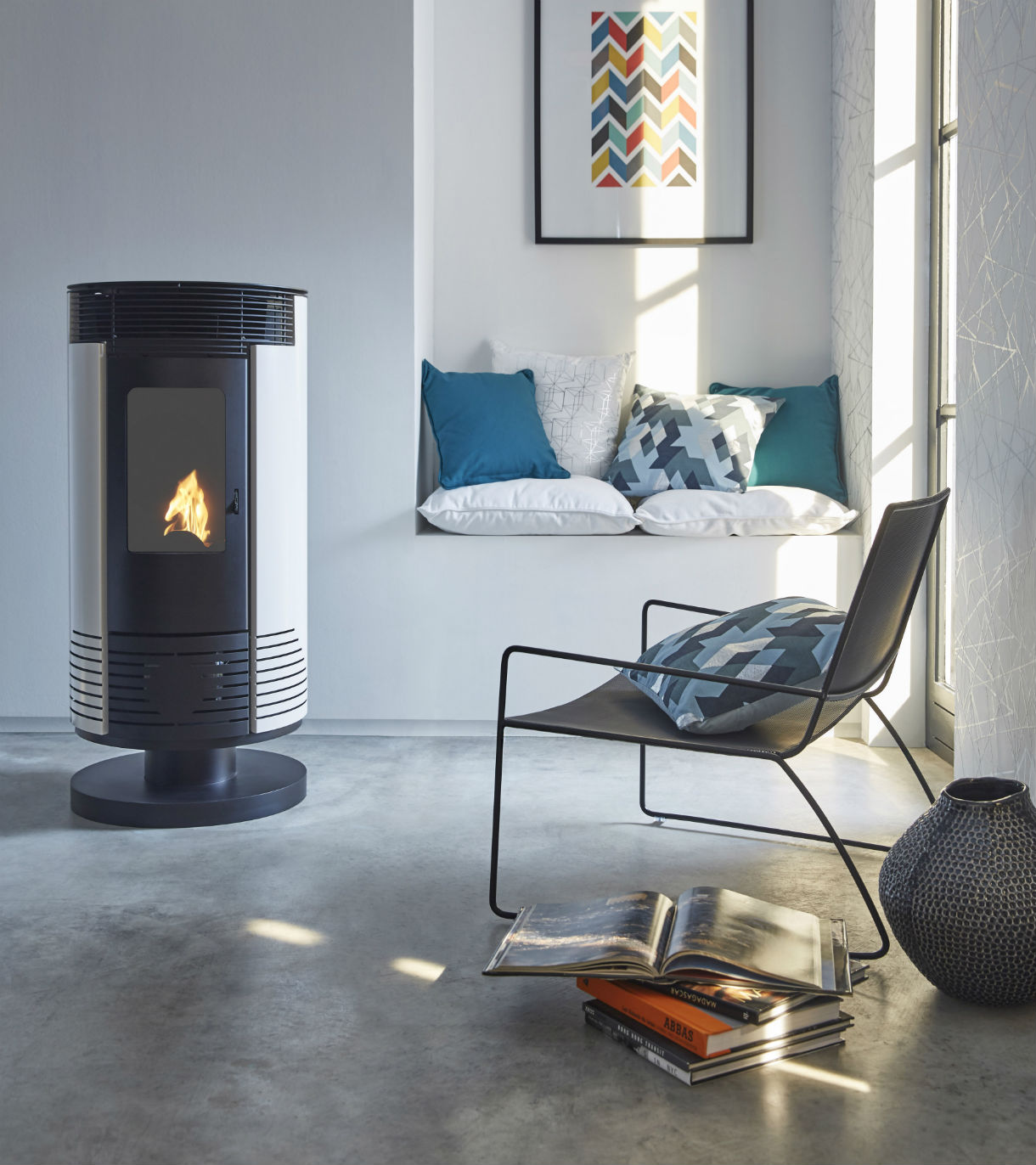 Cheminée Double Combustion Poele A Bois Design Et Contemporain Nos Suggestions