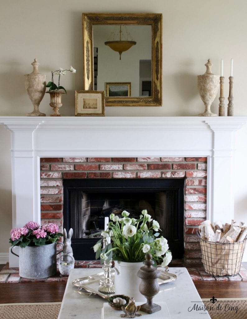 Decor Maison Mantel Decorating Three Ways To Decorate A Spring Mantel