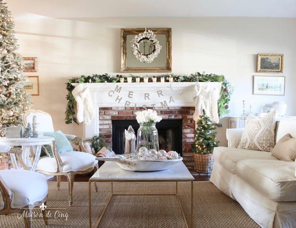 Living Room In French French Inspired Romantic Christmas Living Room