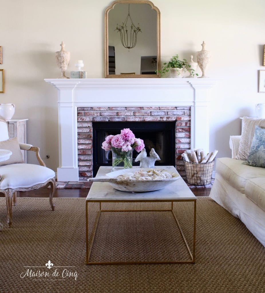 Living Room In French French Farmhouse Summer Decorating Ideas Living Dining Room Tour