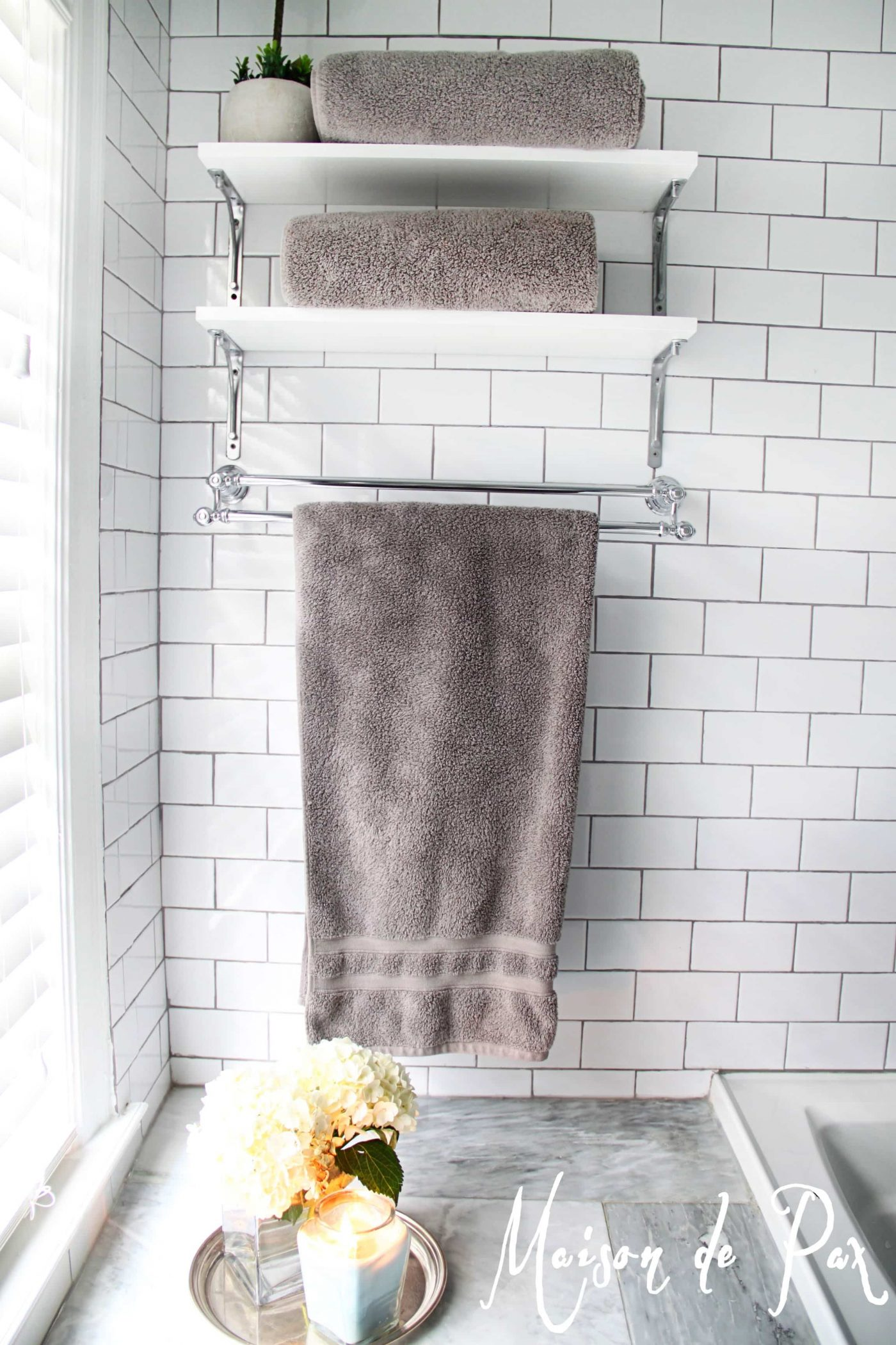Hotel Collection Towel Bar Gorgeous White And Gray Marble Bathroom
