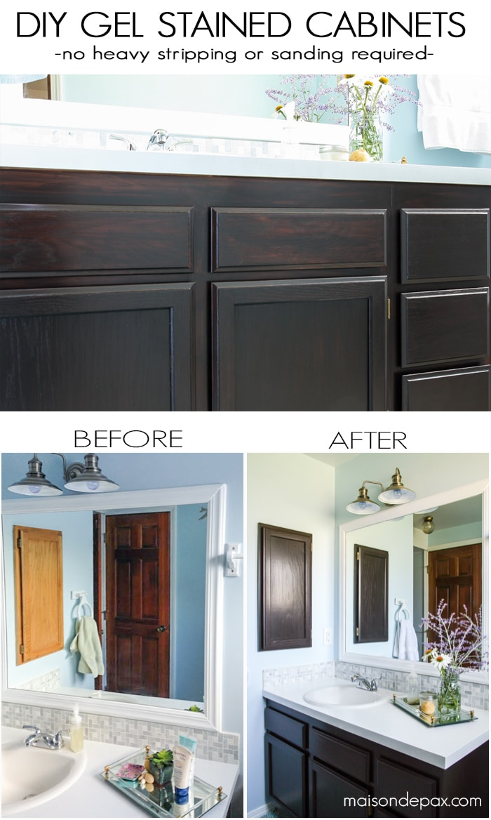 Java Stained Kitchen Cabinets Diy Gel Stain Cabinets (no Heavy Sanding Or Stripping