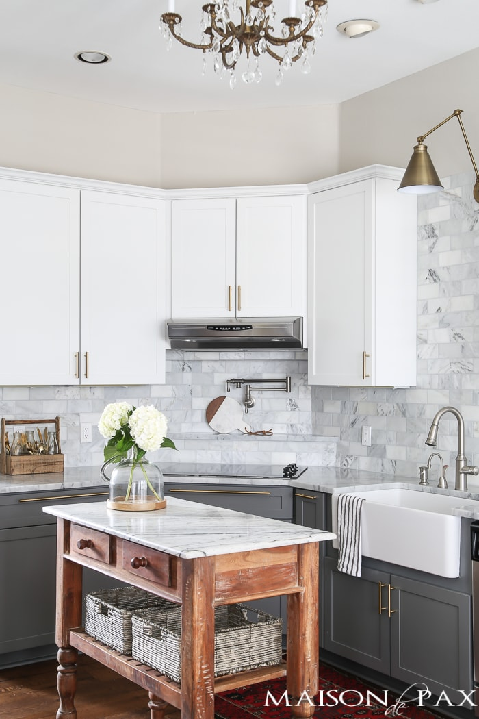 Gray And White And Marble Kitchen Reveal Maison De Pax