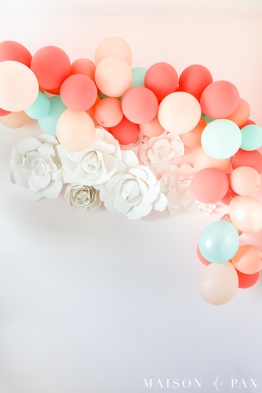 De Decoration How To Make A Balloon Garland Maison De Pax