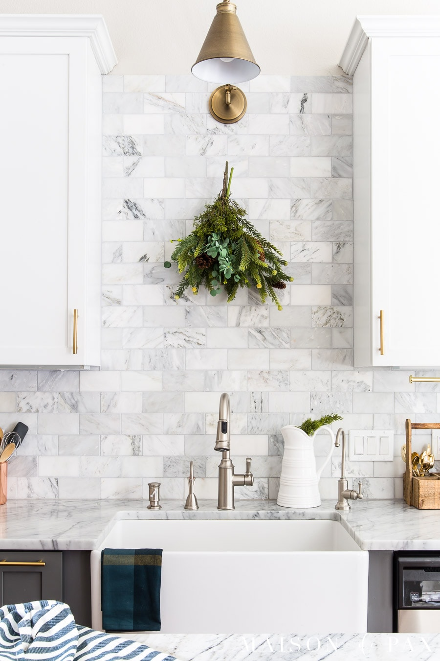 Kitchen Decor Christmas Kitchen Decor Natural Fresh Simple Maison De Pax