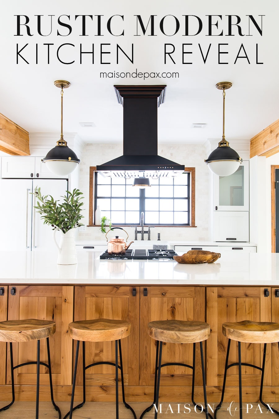 Black Island Kitchen Rustic Modern Kitchen Cabinets Maison De Pax