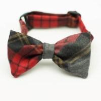 Wool Tartan Plaid Dog Bow Tie George A. L.