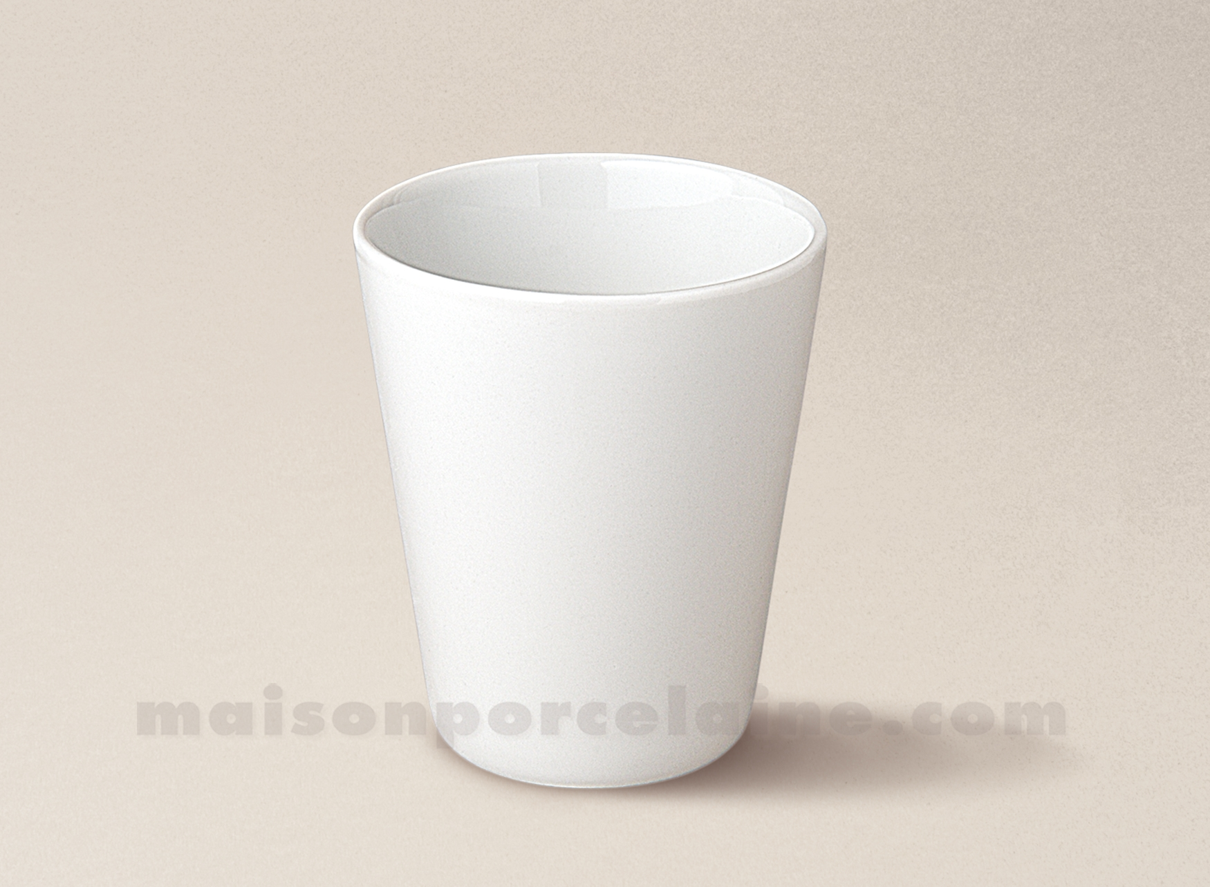 Verre The Verre The Conique Porcelaine Blanche 8x7 16cl Maison De La