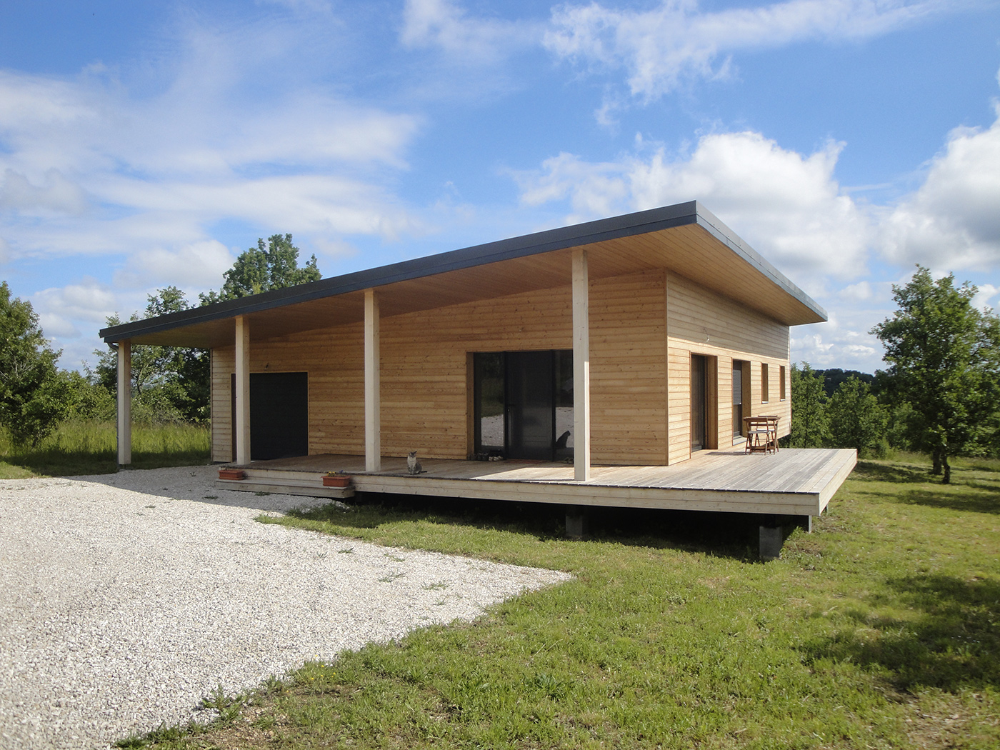 Photo Maison En Bois Maison Contemporaine En Ossature Bois Par Evobois La