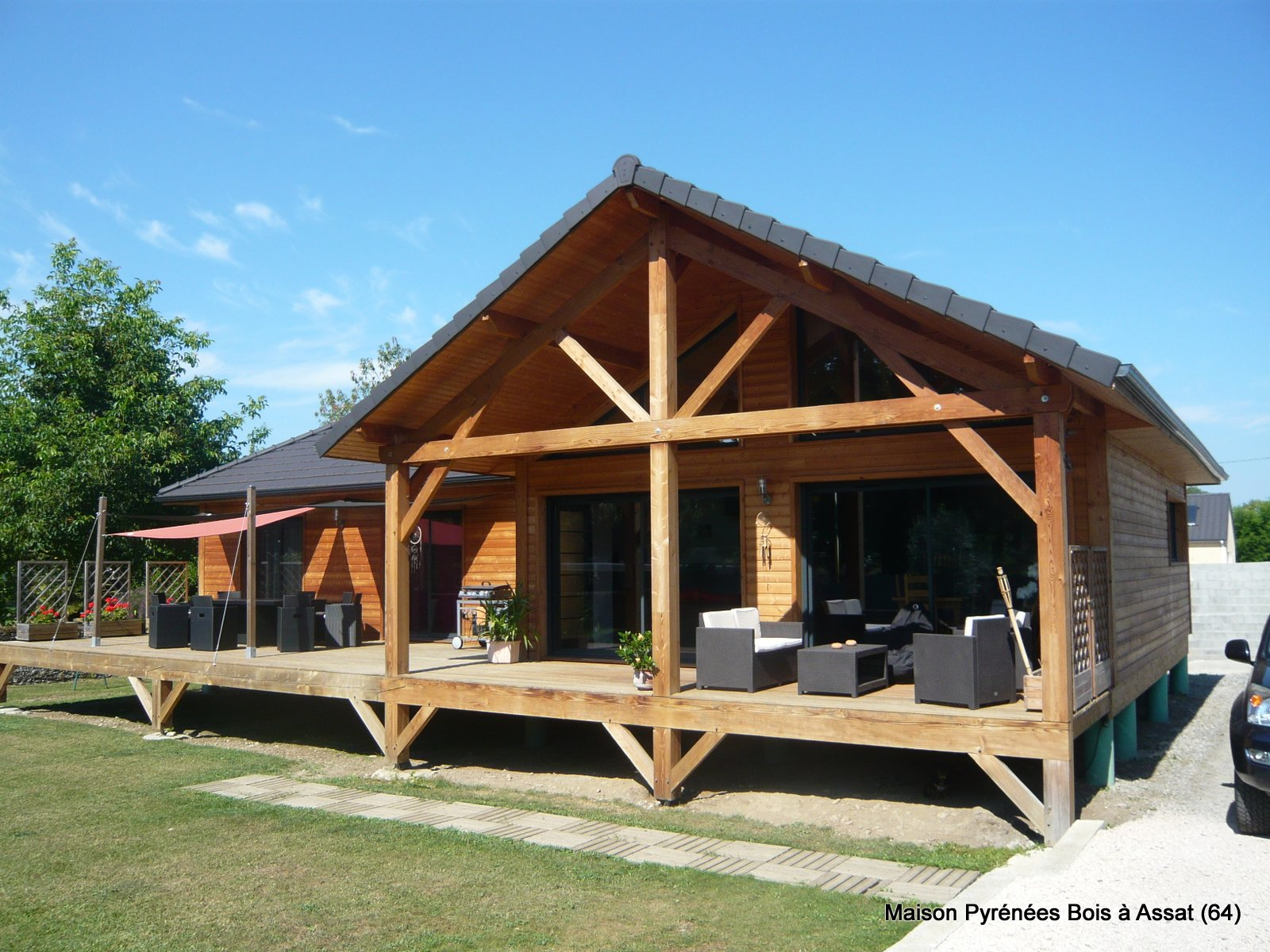 Prix Terrasse Couverte Tuile | Maison Toit Plat Piscine Interieure