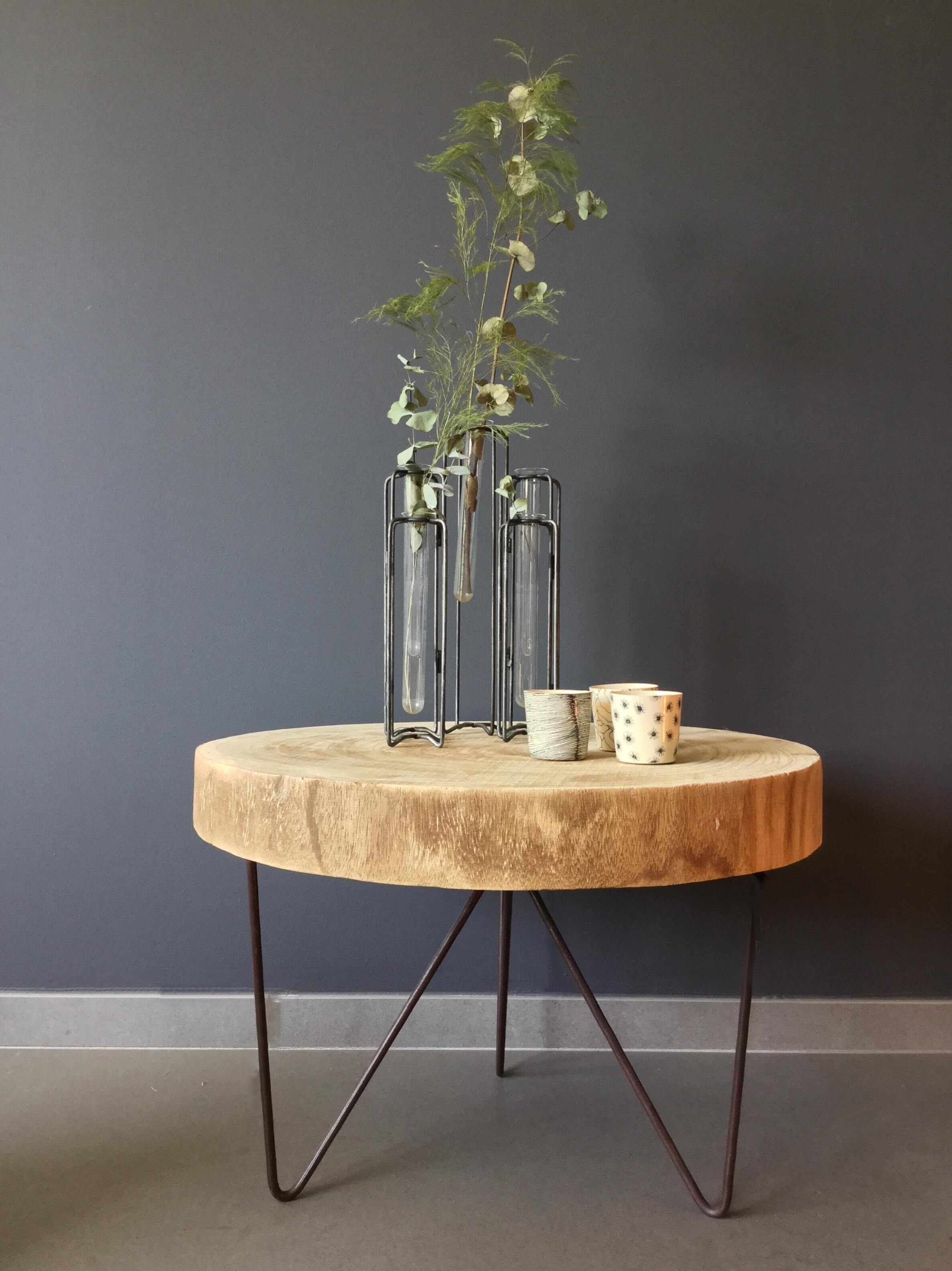 Idée Table De Chevet Originale Table De Nuit Rondin De Bois Trendy Finest With Table De