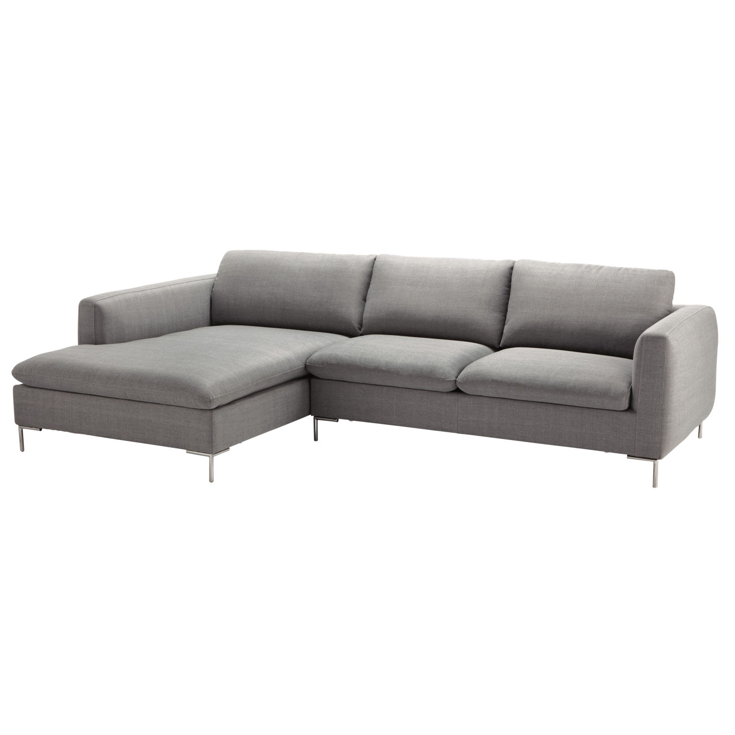 Maison Du Monde Schlafsofa 5 Seater Fabric Left Corner Sofa In Light Grey Maisons Du Monde