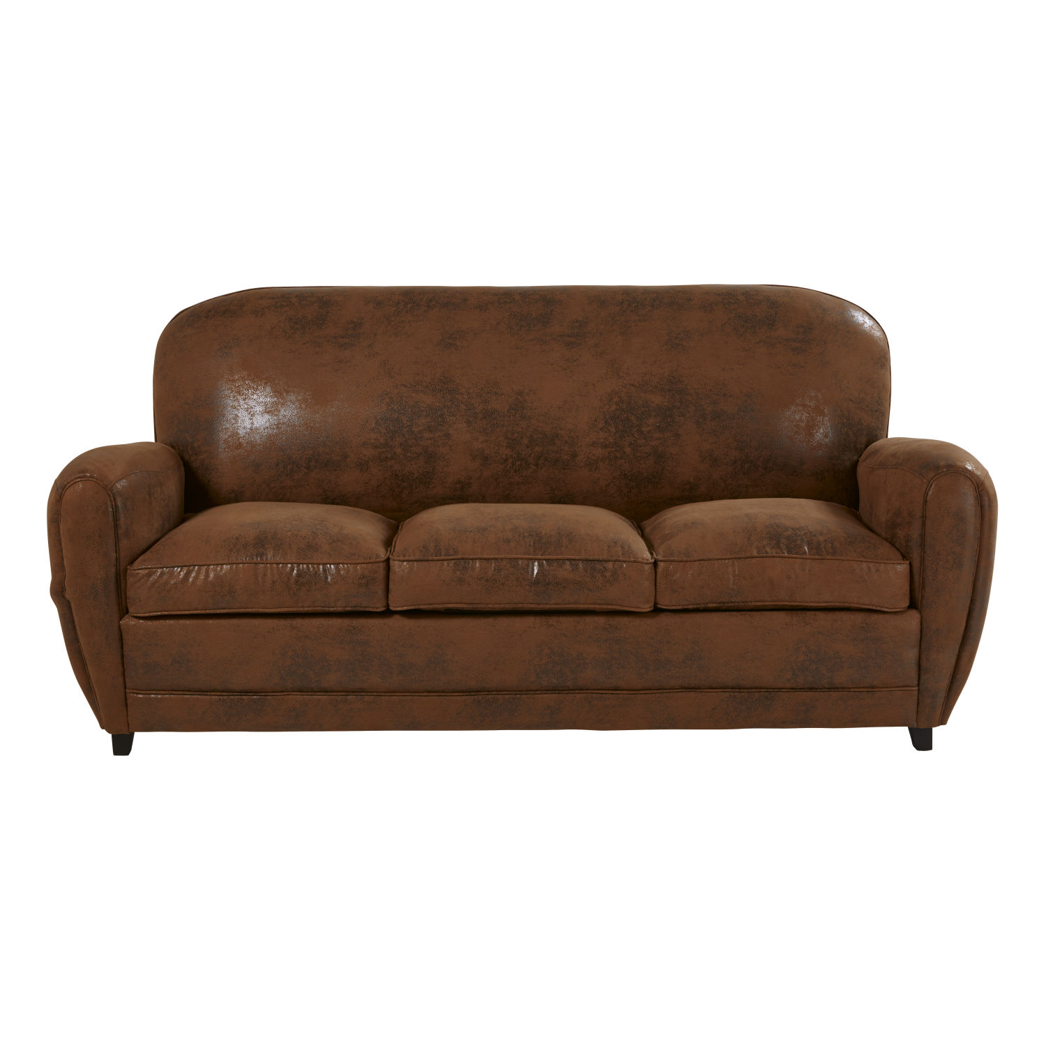 Sofa Vintage A Vendre Brown Suede Sofa