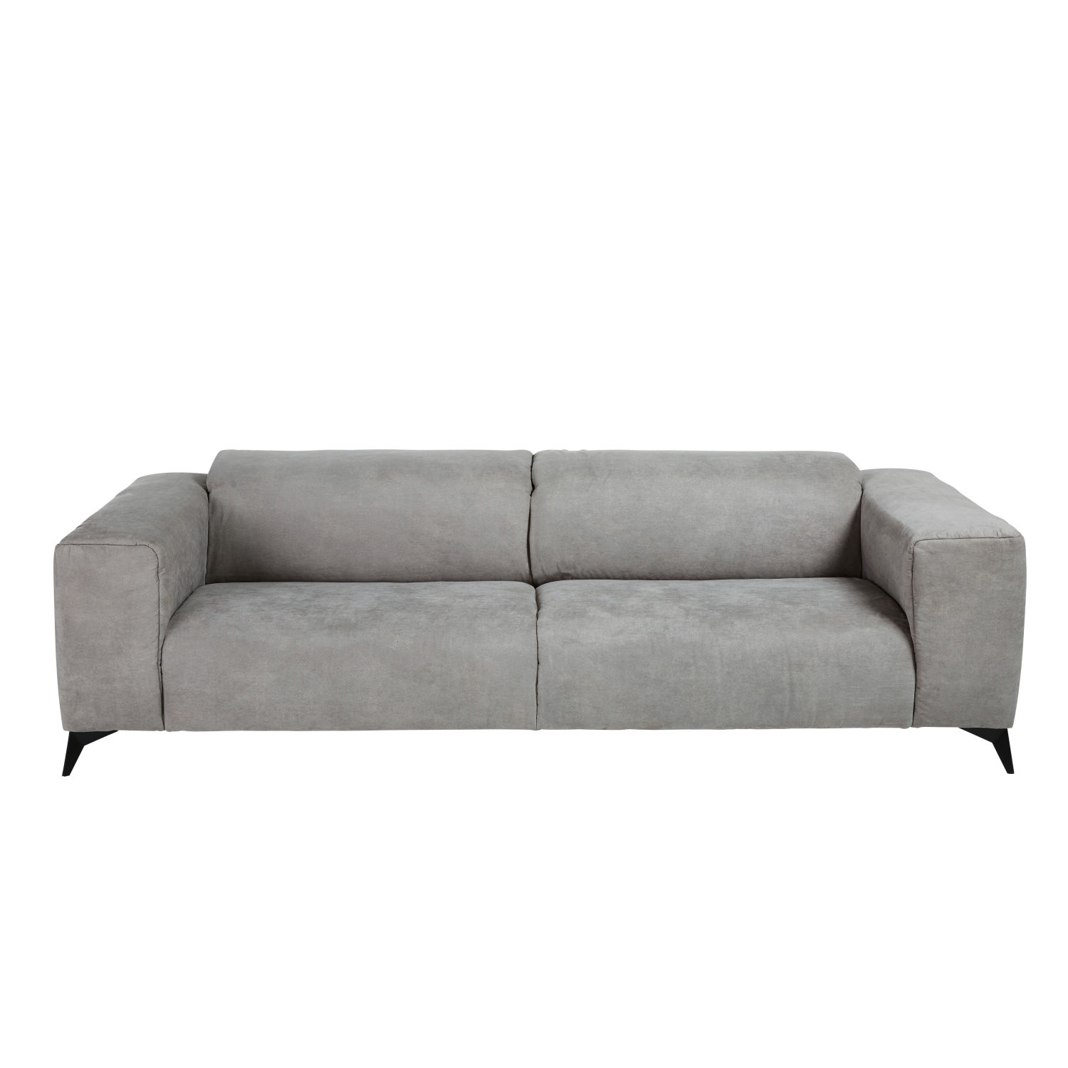 Salon Maison Du Monde Light Grey 3 Seater Microsuede Sofa With Headrests Maisons Du Monde